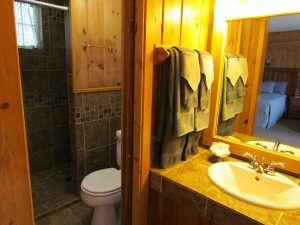 Inside bathroom at Lighthouse at Spicer